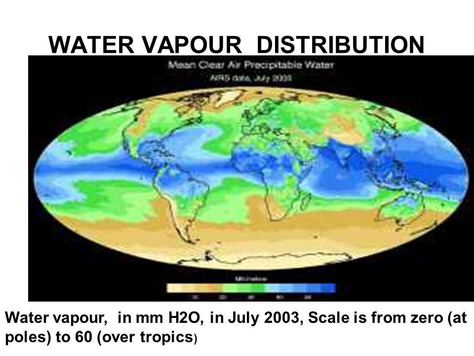 WATER VAPOUR DISTRIBUTION