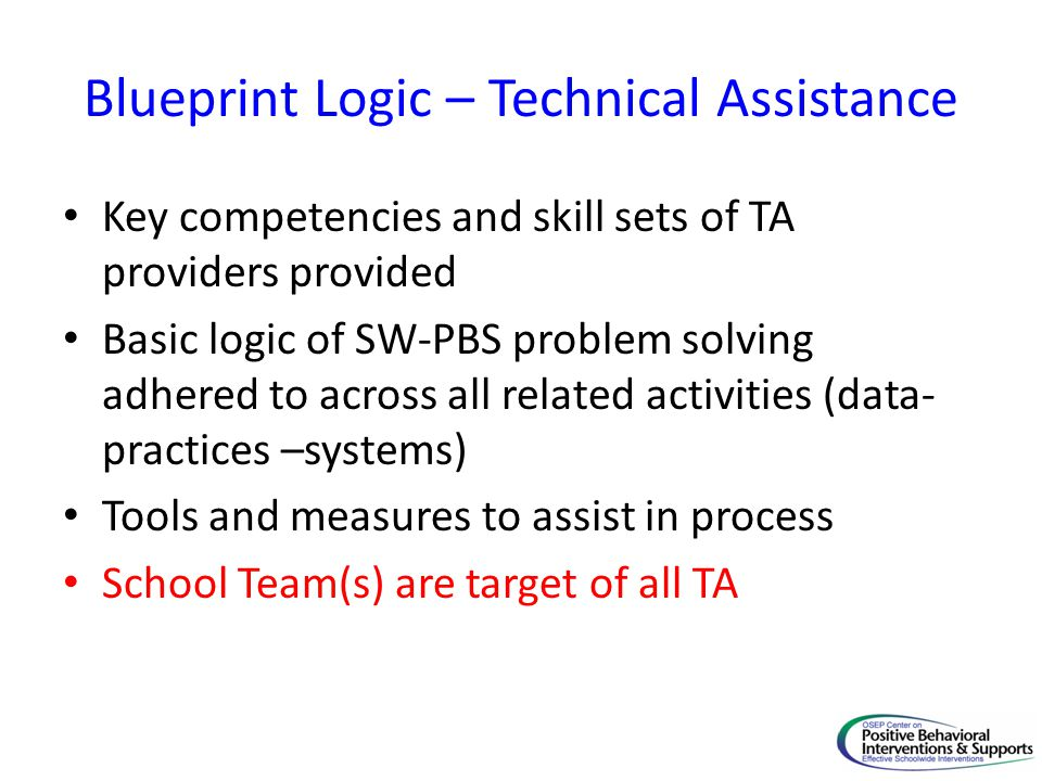Blueprint Logic – Technical Assistance