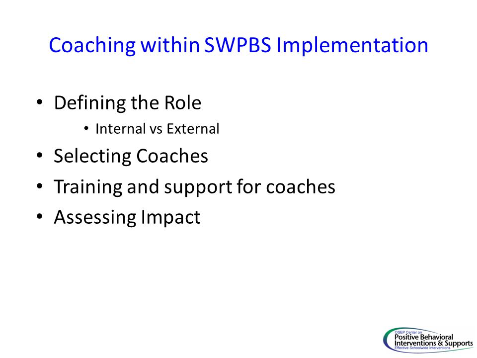 Coaching within SWPBS Implementation