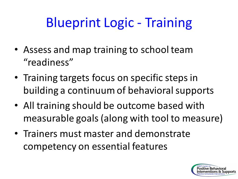 Blueprint Logic - Training