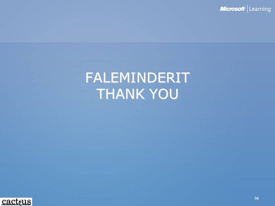 FALEMINDERIT THANK YOU