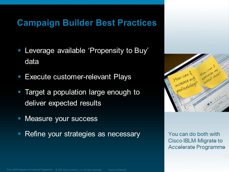 Campaign Builder Best Practices
