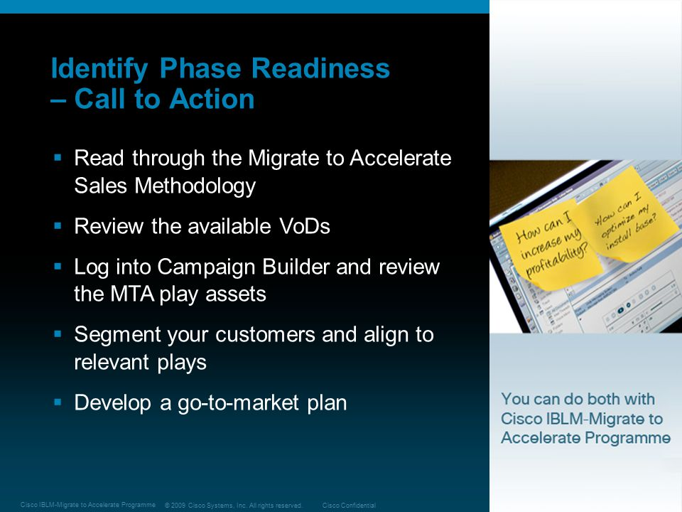 Identify Phase Readiness – Call to Action