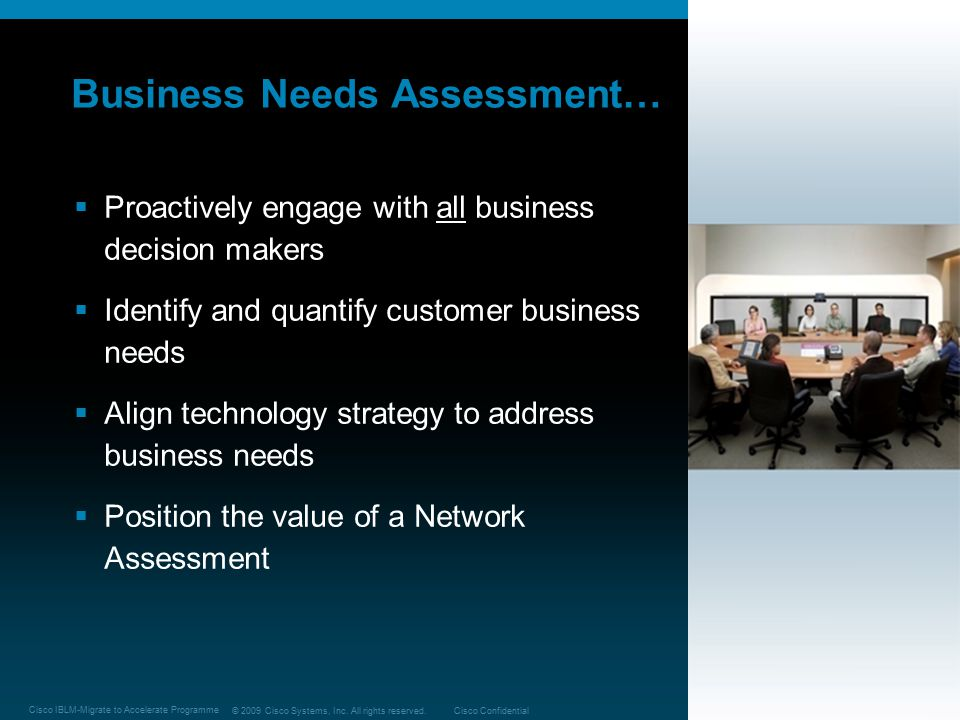 Business Needs Assessment…