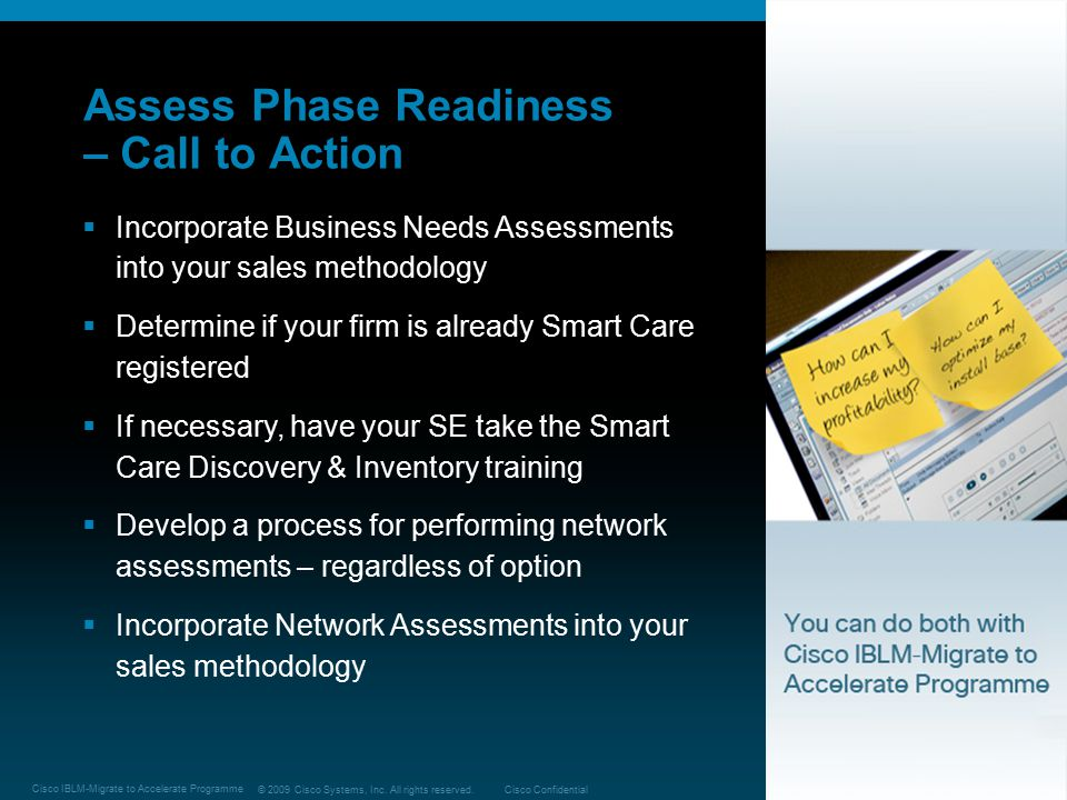Assess Phase Readiness – Call to Action