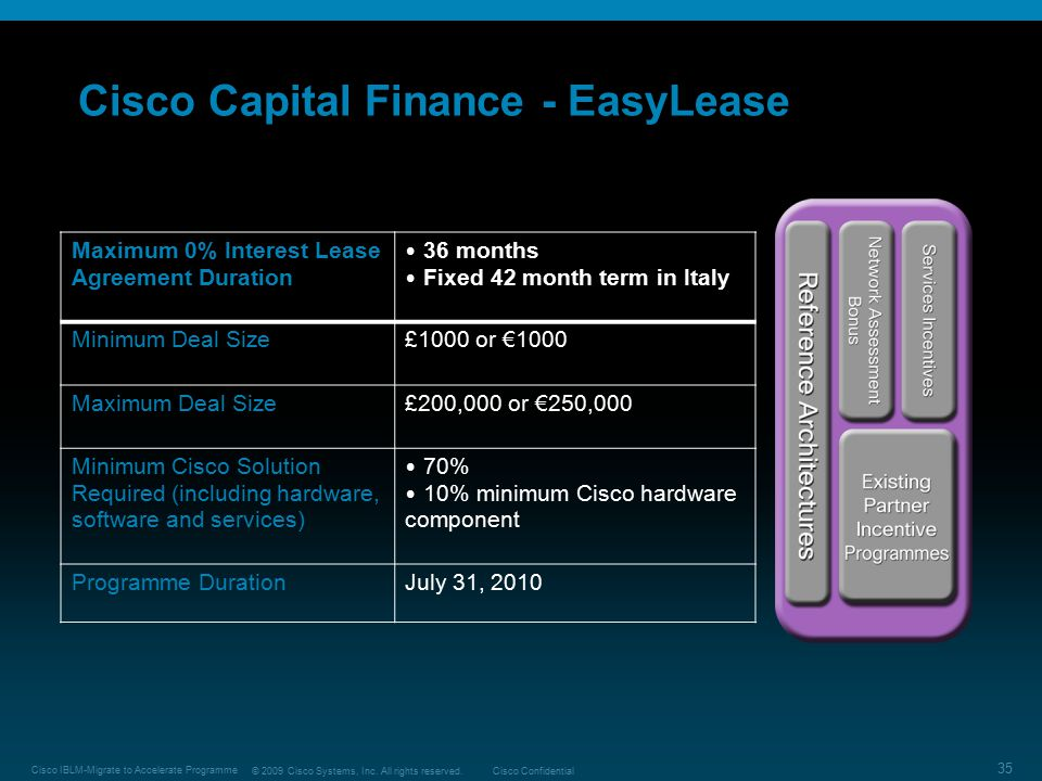 Cisco Capital Finance - EasyLease