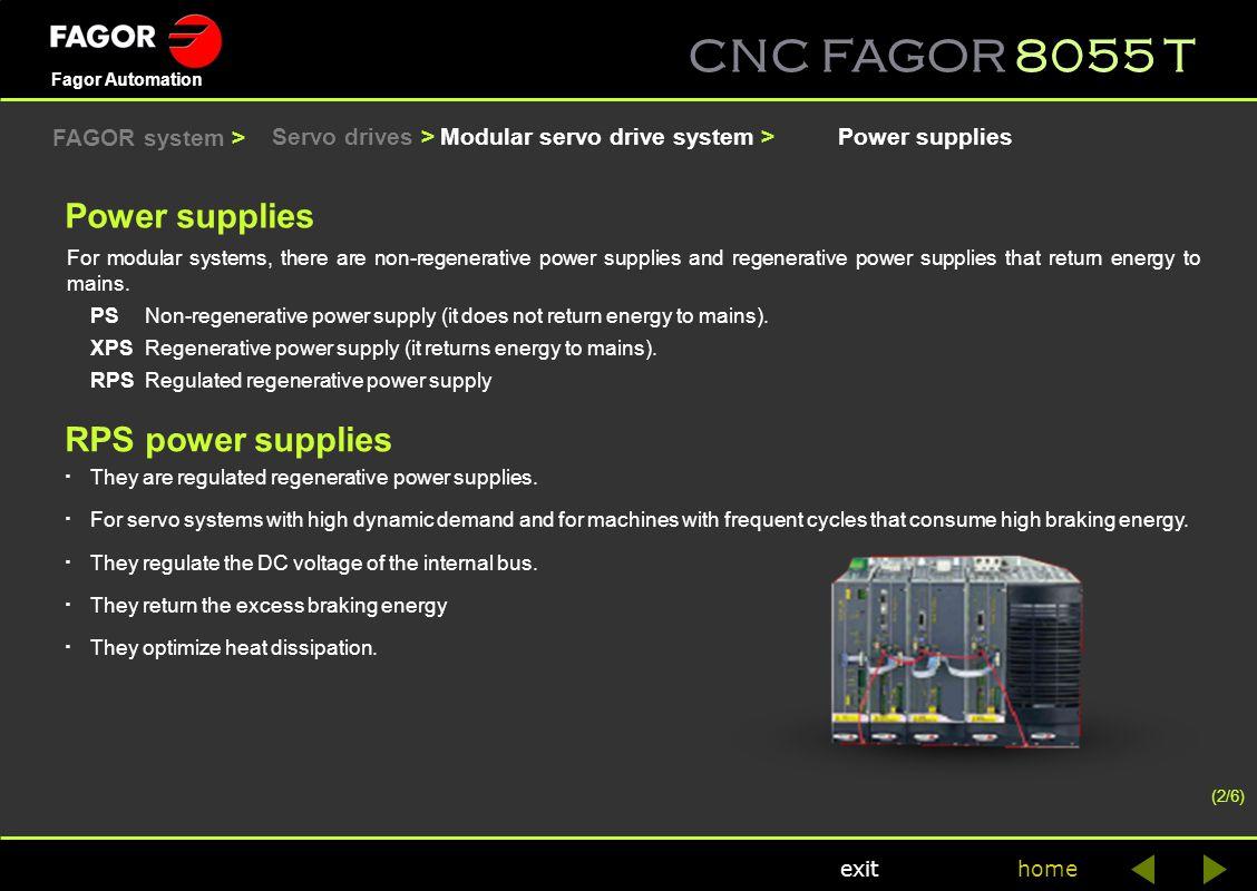 Power supplies RPS power supplies FAGOR system > Servo drives >