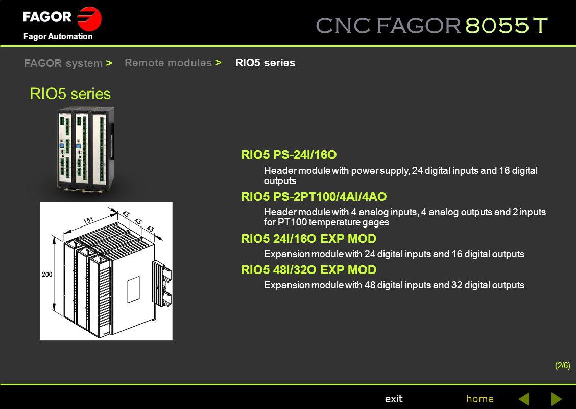RIO5 series RIO5 PS-24I/16O RIO5 PS-2PT100/4AI/4AO