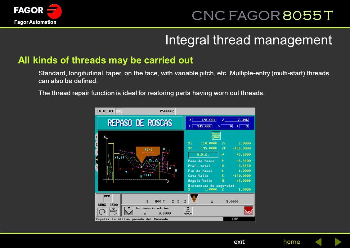 Integral thread management