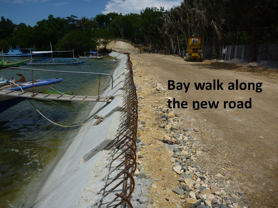 Bay walk along the new road