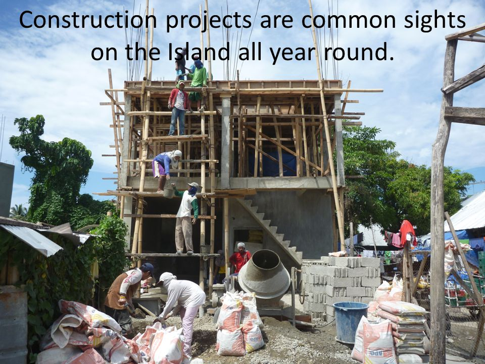 Construction projects are common sights on the Island all year round.