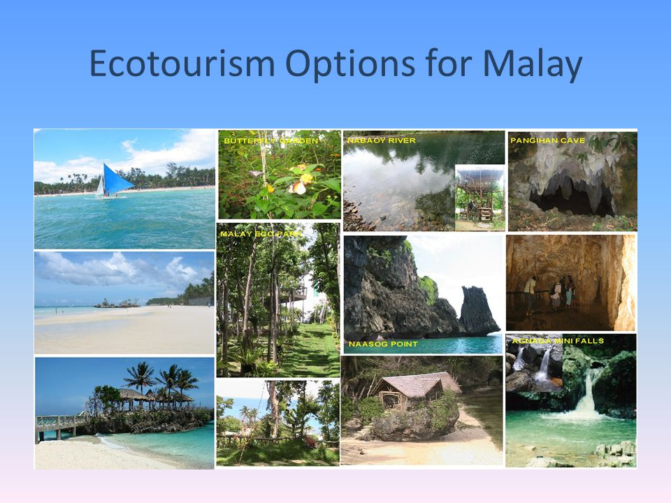 Ecotourism Options for Malay