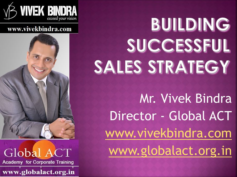 Building Successful Sales Strategy