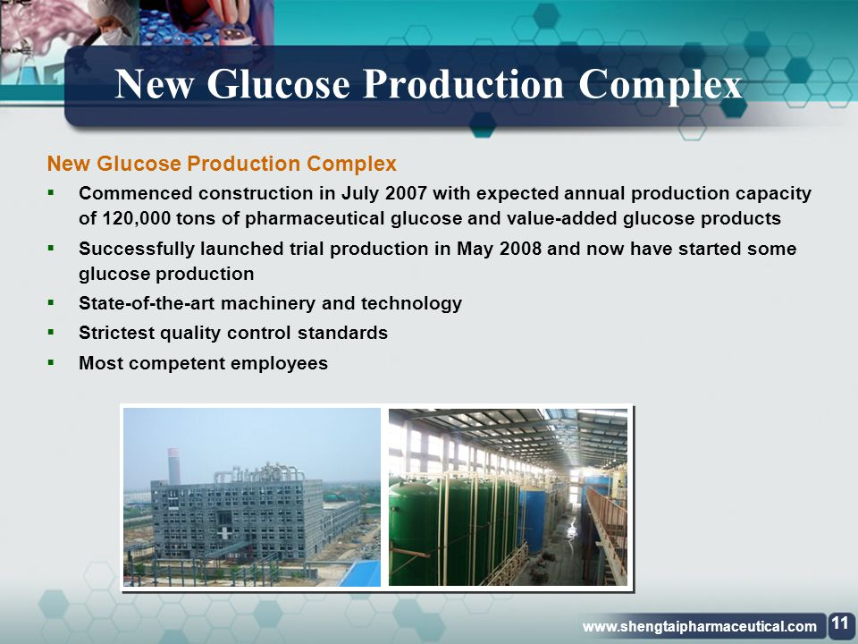 New Glucose Production Complex