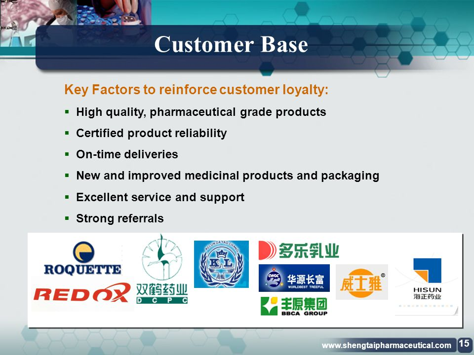 Customer Base Key Factors to reinforce customer loyalty: