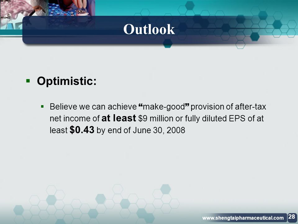 Outlook Optimistic: