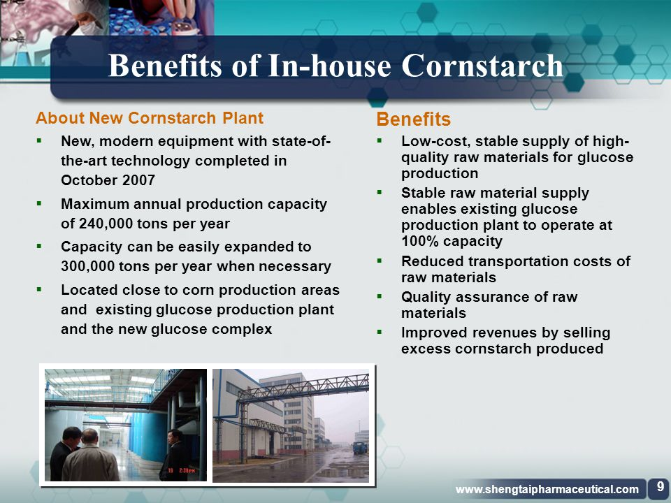 Benefits of In-house Cornstarch