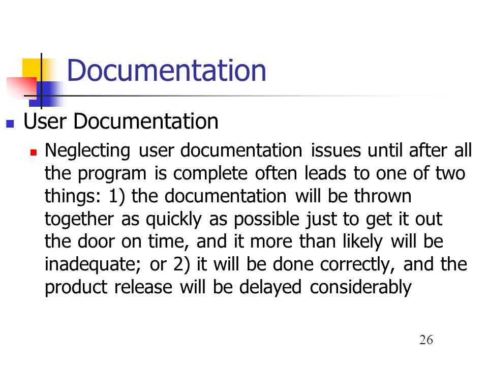 Documentation User Documentation