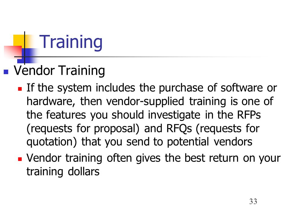 Training Vendor Training