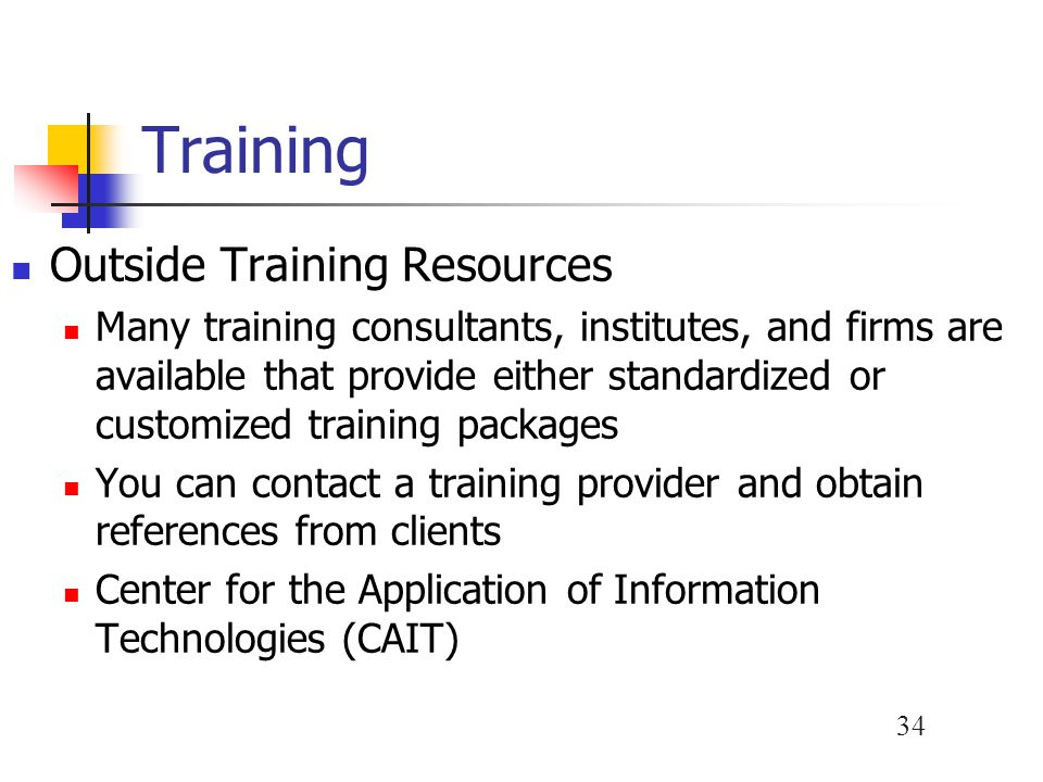 Training Outside Training Resources