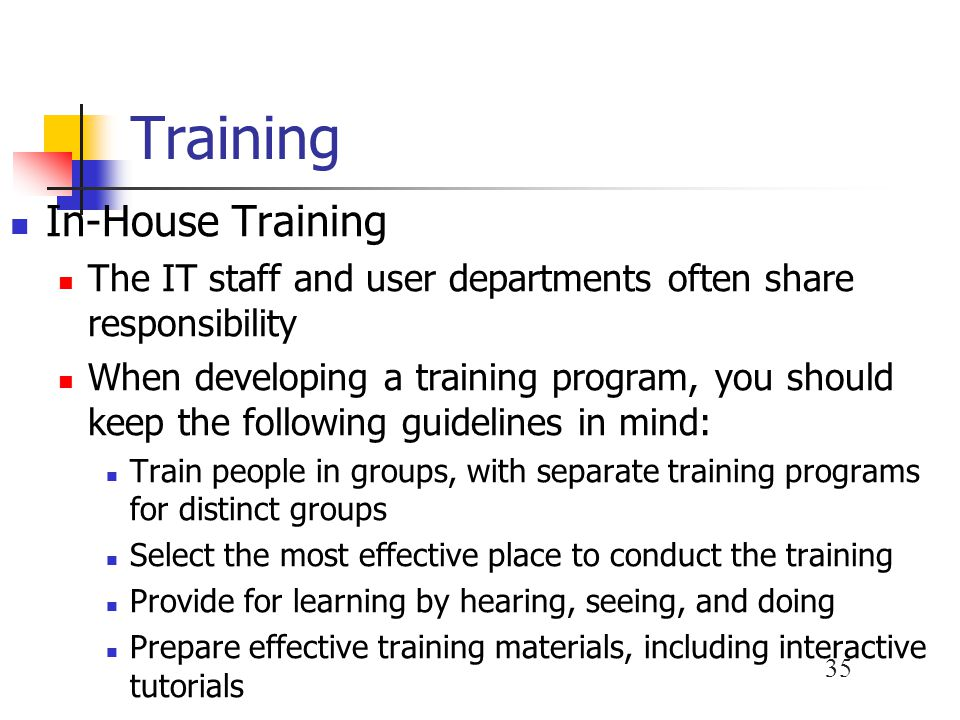 Training In-House Training