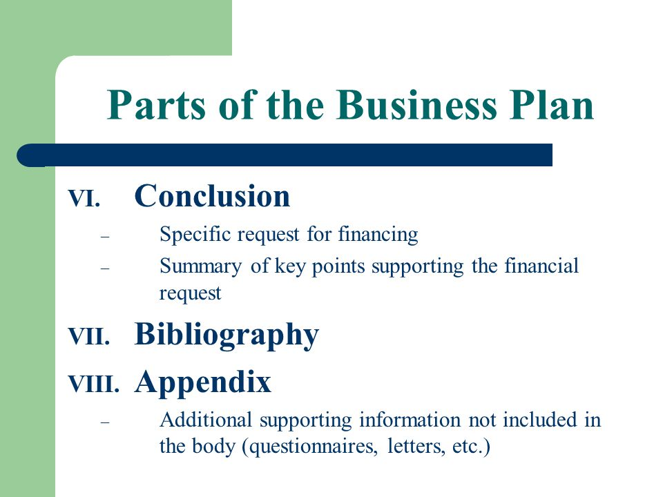Conclusion business plan hotel