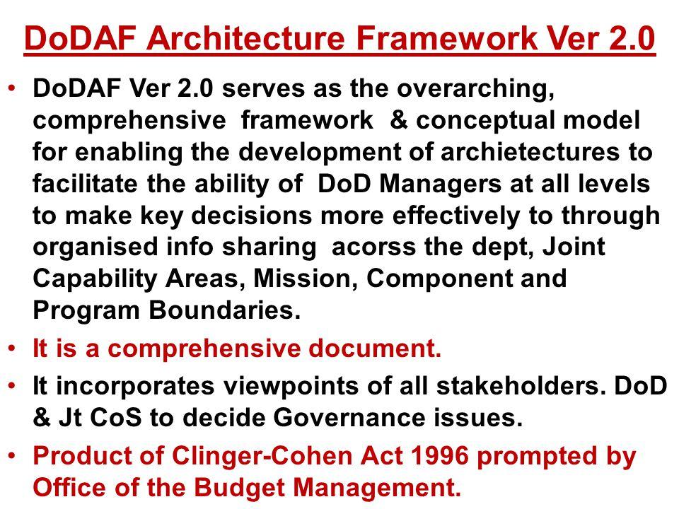 DoDAF Architecture Framework Ver 2.0