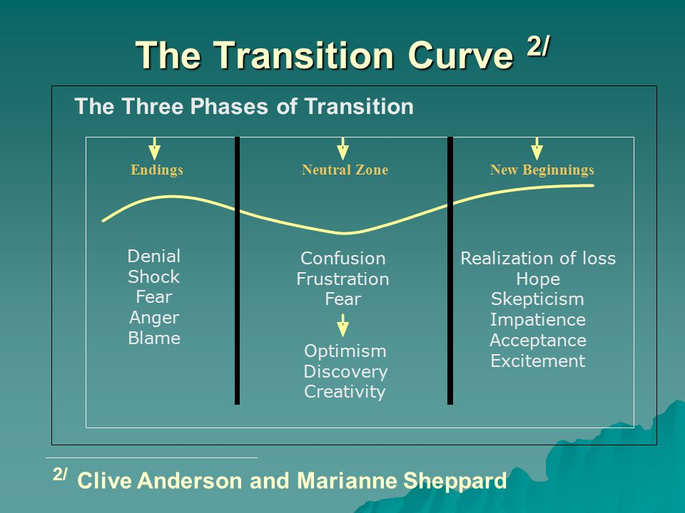 The Transition Curve 2/ 2/ Clive Anderson and Marianne Sheppard