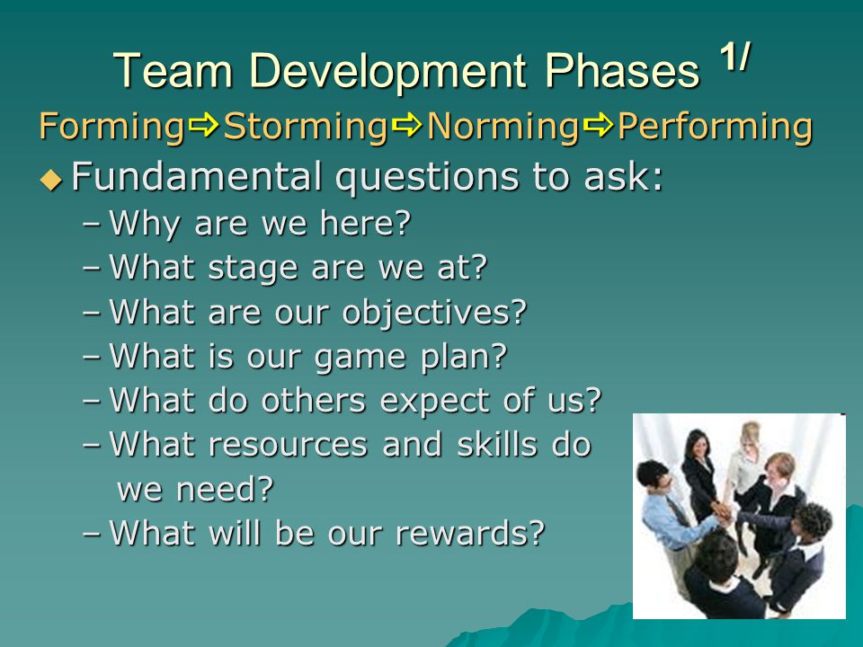 Team Development Phases 1/