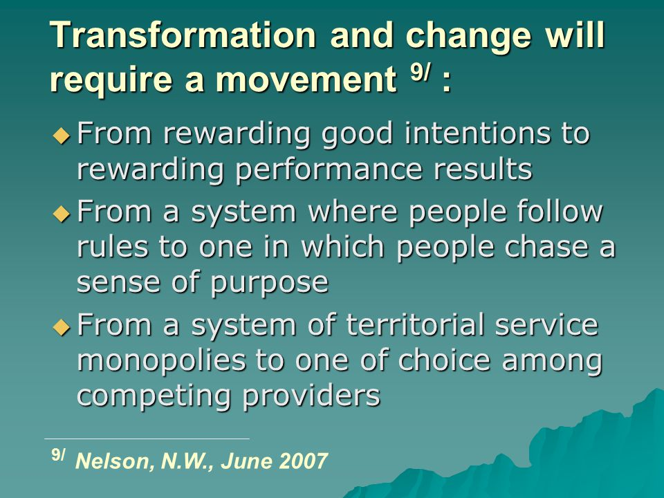 Transformation and change will require a movement 9/ :