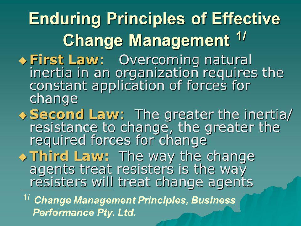 Enduring Principles of Effective Change Management 1/