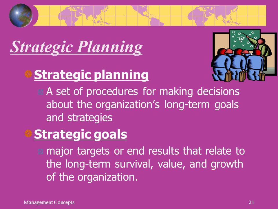 Strategic Planning Strategic planning Strategic goals