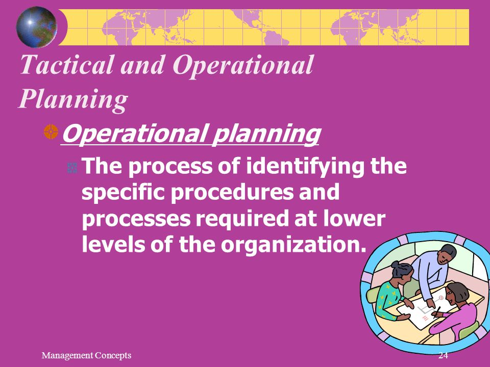Tactical and Operational Planning