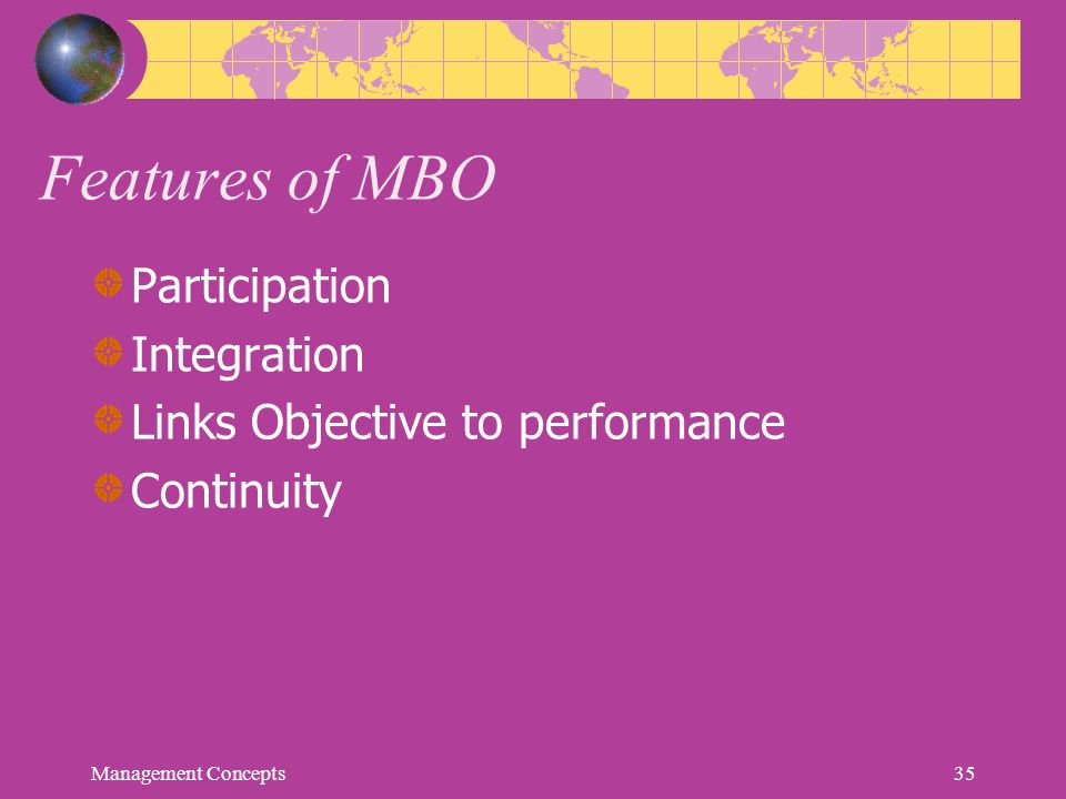 Features of MBO Participation Integration