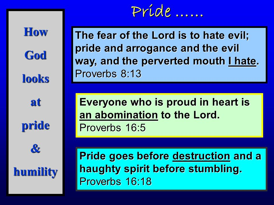 How God looks at pride & humility
