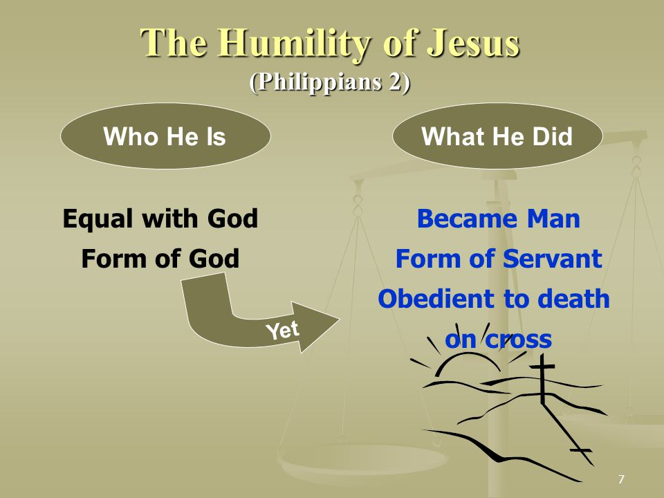 The Humility of Jesus (Philippians 2) Who He Is What He Did