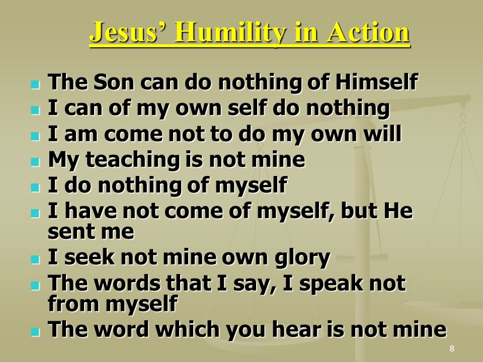 Jesus' Humility in Action