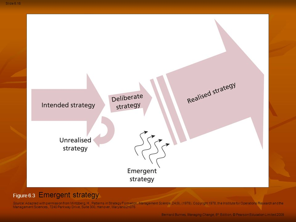 Figure 6.3 Emergent strategy