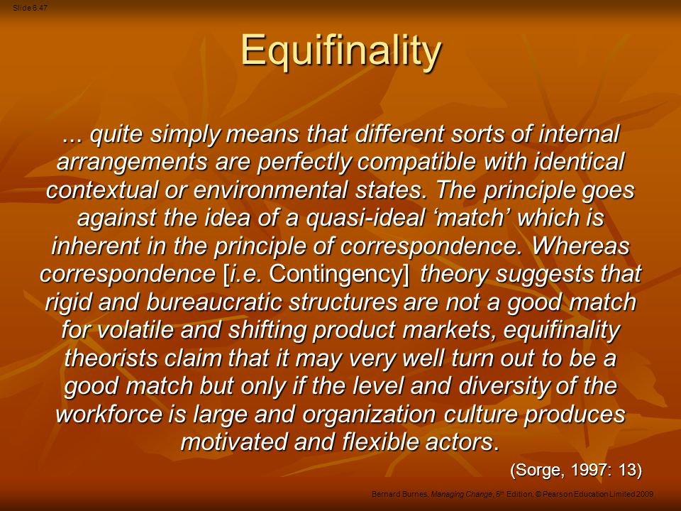 Equifinality