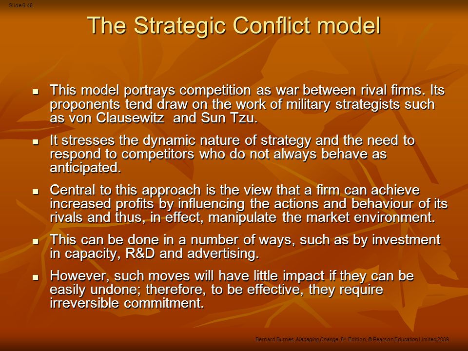 The Strategic Conflict model