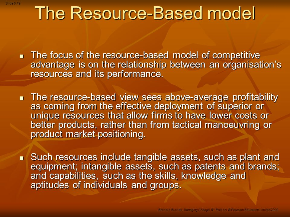 The Resource-Based model