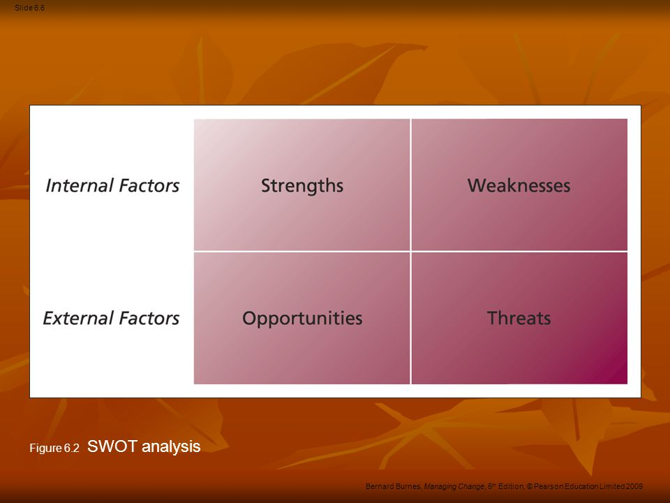 Figure 6.2 SWOT analysis
