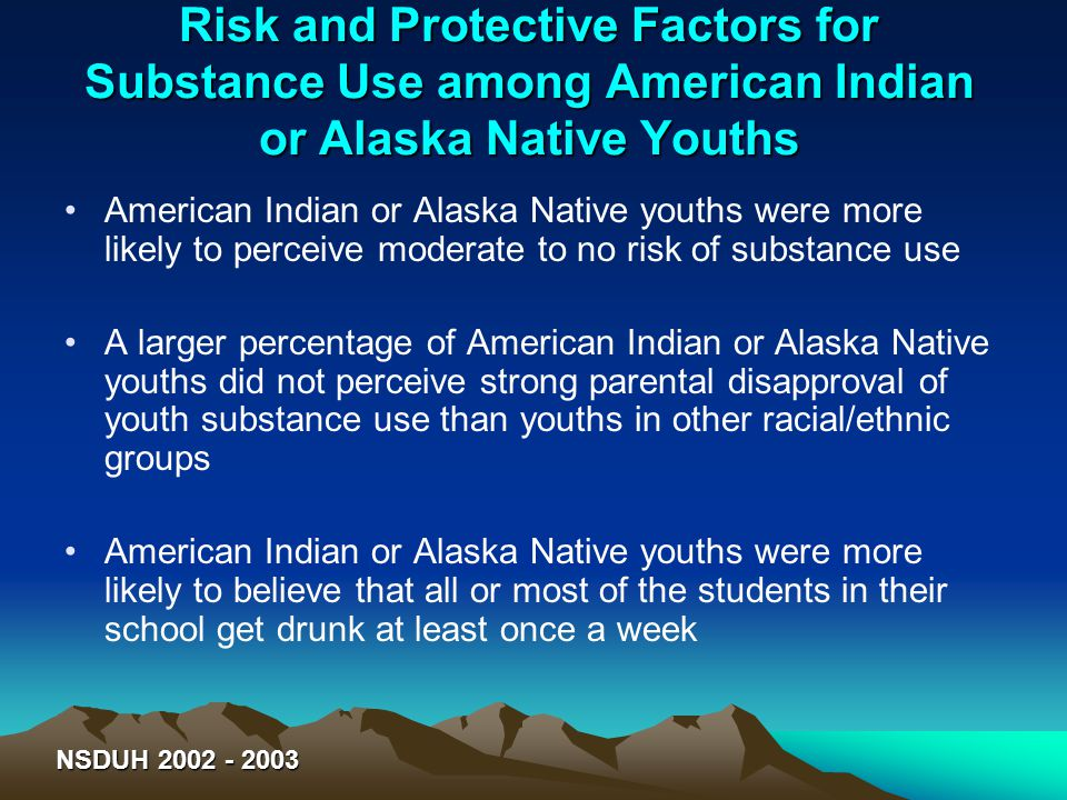 Risk and Protective Factors for Substance Use among American Indian or Alaska Native Youths