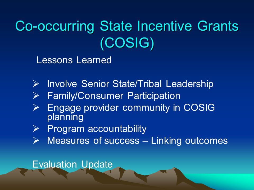 Co-occurring State Incentive Grants (COSIG)