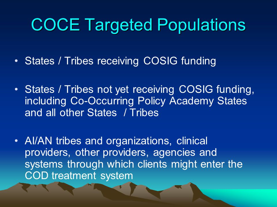 COCE Targeted Populations