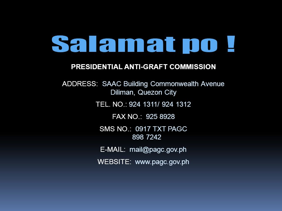 PRESIDENTIAL ANTI-GRAFT COMMISSION