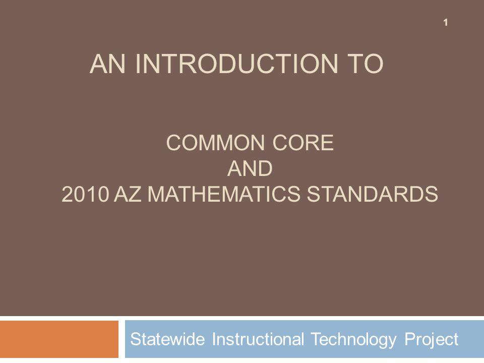 Common Core and 2010 Az Mathematics standards