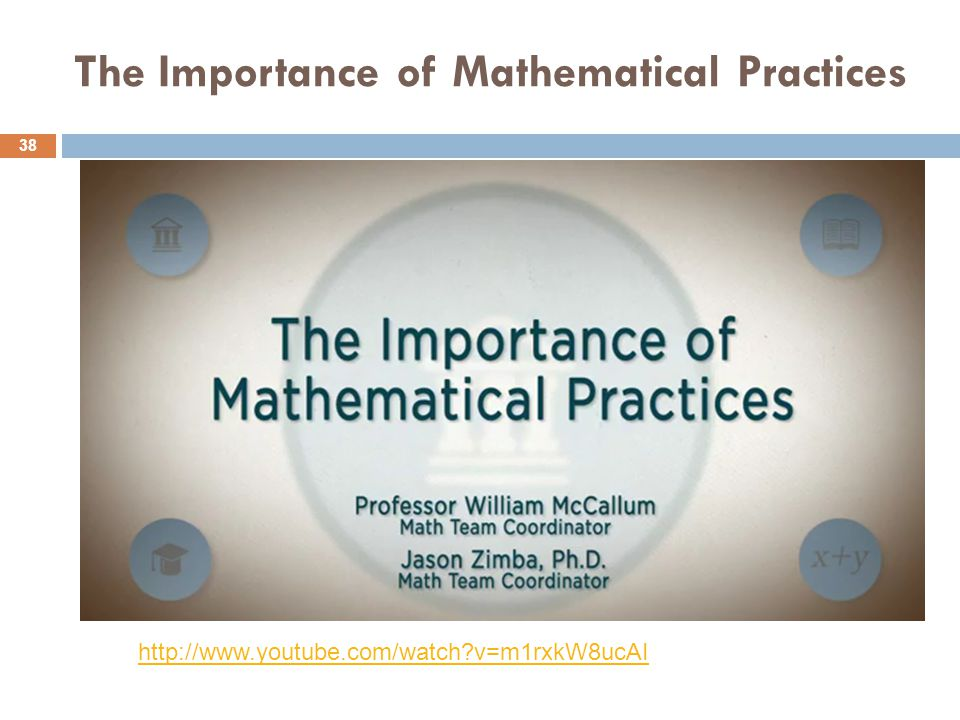 The Importance of Mathematical Practices