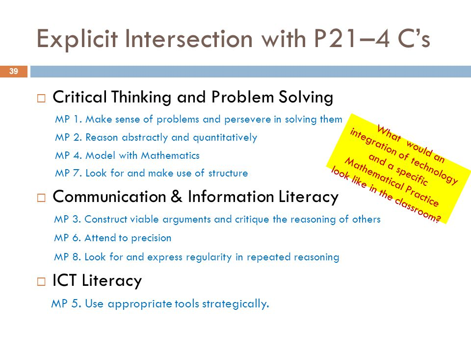 Explicit Intersection with P21–4 C's