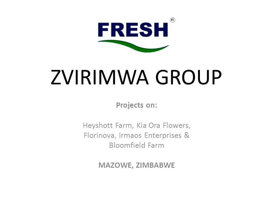 ZVIRIMWA GROUP Projects on: Heyshott Farm, Kia Ora Flowers,